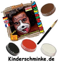 Kinderschminke-Set für ein Hundegesicht